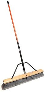 """24"""" Smooth-Surface Push Broom with Two Color Handle"""