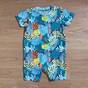 Baby Boy Clothes 9-12 Months Designer John Rocha Jungle Animals Short Romper