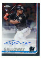 ISAAC GALLOWAY RC 2019 TOPPS CHROME ROOKIE AUTO MARLINS