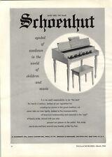 1956 PAPER AD Schoenhut Toy Play Piano