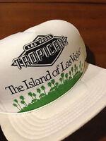 d3cd261f31d VTG 80 s 90 s Tropicana Casino The Island of Las Vegas Hat Cap Rare Mesh  Trucker