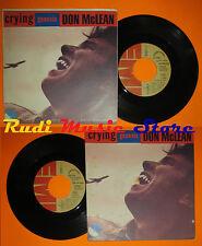 LP 45 7''DON MCLEAN Crying Genesis 1979 italy EMI 3C 006-82773 cd mc dvd