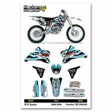 2006-2009 YAMAHA YZF 250-450 BTO Dirt Bike Graphics kit Motocross Graphics Decal
