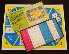 Vintage Royal Michigan Rummy Tee Pee Toys Unpunched Chips Game Sheet LN No cards