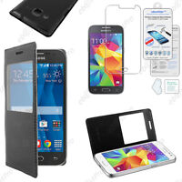 Housse Coque Etui L-View PU Cuir Samsung Galaxy Core Prime G360F +Film Stylet