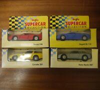 4x Maisto Supercar Collection Model Cars Bugatti Aston Martin Ferrari Corvette