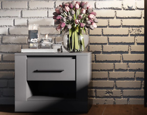 Grey CLEO bedside table