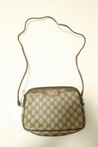 Authentic Vintage Gucci Canvas PVC Shoulder bag Crossbody Pouch #7479
