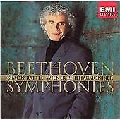 Beethoven Symphonies - SIMON RATTLE / WIENER PHILHARMONIKER - 5 CD BOX SET EX