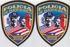 POLICIA DE PUERTO RICO Proteccion Integridad Puerto Rican police 2 patches PR
