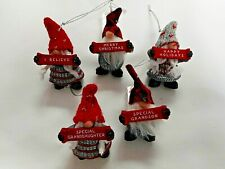NEW for 2020, Charming Mini Gnome Ornaments, 5 styles available, from Ganz