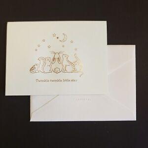 Crane & Co engraved nursery rhyme folded stationery - boxed