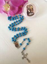 12-Communion Favors Boy Rosaries Scented Blue Party Recuerdos de Comunnion Niño