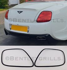 BENTLEY GT GTC BLACK Tail Light Trims Surrounds Frames Rings 03-09