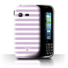 Custom Stripes/Striped Case Samsung Galaxy Chat/B5330/Baby Pink Heart/Cover
