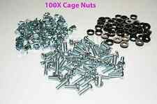 USA SELLER - 100 PACK LOT - M6 RACK MOUNT SQUARE CAGE NUTS, SCREWS, and WASHERS