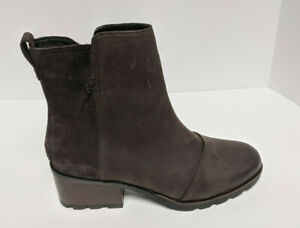 Sorel Cate Ankle Boots, Brown Leather, Women's 9 M