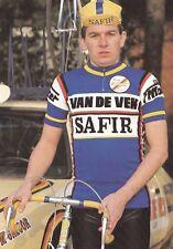 CYCLISME carte cycliste WILLY SPRANGERS  équipe VAN DE VEN SAFIR 1983