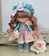 Rag doll handmade in the UK Tilda doll Ooak doll Art doll LILY 8 inch tall