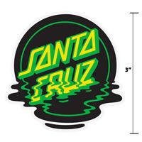 "3"" Santa Cruz Classic Dot Reflection Skateboard Sticker Screaming Hand Surf New"