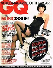 GQ UK August 2005 CHARLOTTE CHURCH Coldplay PETE DOHERTY Kings of Leon BECK vgc