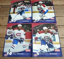 *Ultra Rare -  (4 en 1) French Posters / Affiches NHL Montreal Canadiens