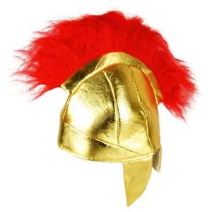 New Adults Roman Greek Fabric Helmet Spartacus Spartan Gladiator Fancy Dress Hat