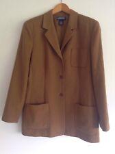 Ladies Lands'End Wool Cashmere Camel Colour Jacket Size 12