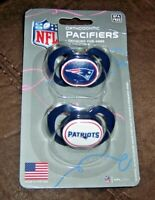 NFL NEW ENGLAND PATRIOTS ORTHODONTIC PACIFIERS 2-PACK / AGES 3 MONTHS & UP nip