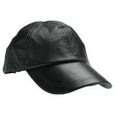 d4b4548aa02 Giovanni Navarre GFCAP2 Solid Leather Baseball Cap - Black
