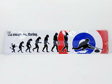The Evolution Of Curling Sign Metal Tin Wall Hanging Lightweight