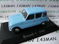 car 1/43 RBA Italy IXO : RENAULT 4 L 1964 blue