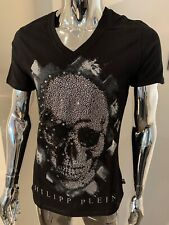 Philipp Plein Replay Crystal XL Black T Shirt Genuine Brand New With Tags