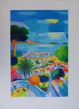 PICOT jean-Claude : Village méditerranéen - LITHOGRAPHIE originale signée #600ex