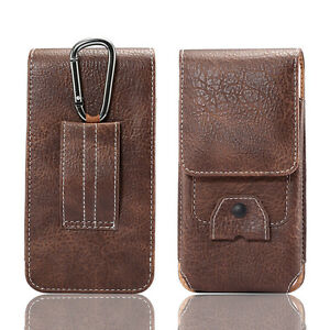 """Climbing Leather Bag Case For iPhone Samsung S8 Huawei Redmi LG 5.1 5.7"""" Pockets"""