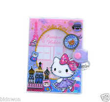 Sanrio HELLO KITTY Passport ID Holder Cover set Travel doc Trip Q6 girls ladies