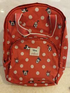 Red Disney X Cath Kidston Back Pack Bag Mickey Donald Duck Pluto school bag?