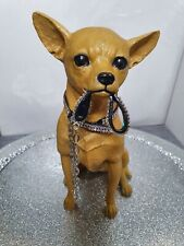 More details for chihuahua luxury sitting statue, hand designed fawn coat