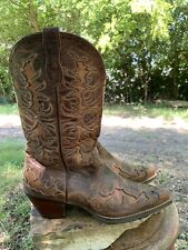 Ariat Womens Multi Color Snip Toe Leather Cowboy Boot Model 10007964 Size 9 B
