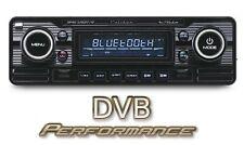 Calibre rmd120bt Negro Coche Clásico Retro Bluetooth estéreo A2DP Fm Usb Sd Aux
