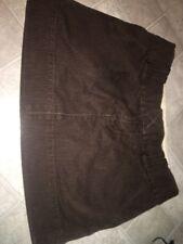 American Eagle PinStripe Mini Skirt Size 2 With Belt Loops Brown/tan