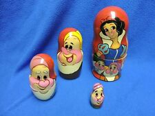 Nesting Doll Disney Made in Russia Set of 4