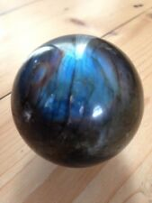 LABRADORITE CRYSTAL SPHERE BALL GEMSTONE SPECTROLITE NEW AGE HEALING WICCA REIKI