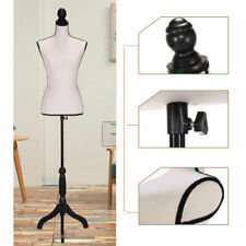 Beige Female Mannequin Torso Clothing Display W/ Black Tripod Stand