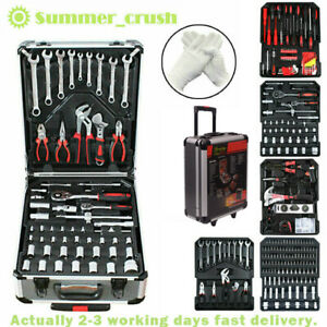 1200Pc Tool Set Case Mechanics Kit Box Organize Castors Trolley Mechanic Toolbox