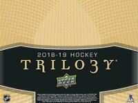 2018-19 Upper Deck Trilogy Hockey Cards Pick From List 1-141 Includes Rookies