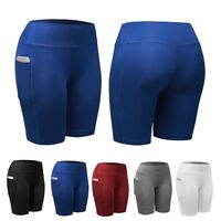 US Women Sports Compression Shorts Trousers Athletic Fitness Running Yoga Pants