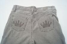 CAMBIO Damen stretch Cord Jeans Feincord Hose Gr.36 grau #69