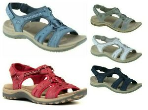 Earth Spirit Fairmont Ladies Leather Touch Fast Back Strap Comfort Sandals