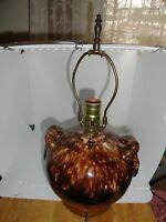BRUSH McCoy - Onyx - lamp, with tasseled handles undamaged